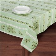 French Linen - Clos Des Oliviers Green Tablecloth 155x120cm