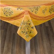 French Linen - Clos Des Oliviers Yellow Tablecloth 155x250cm