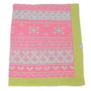 DLUX - Flutter Cotton Knit Cot Blanket Pink