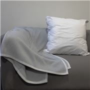 Bemboka - Pure Cotton Frame Throw Dove & Oyster