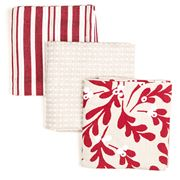 Madras - Christmas Mistletoe Teatowel Set 3pce