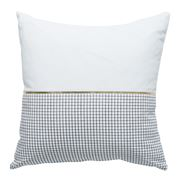 Milk & Sugar - Half Check Black & Gold Cushion