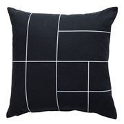 Milk & Sugar - Black Line Cushion