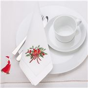 Christmas Napery - Apple Cinnamon Bow Napkin