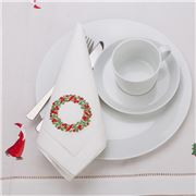 Christmas Napery - Wreath Napkin