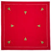 Christmas Napery - Twinkle Tree Red Tablecloth