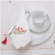Christmas Napery - Red Tulip Napkin