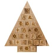 Swish Collection - Natural Wood Tree Advent Calendar