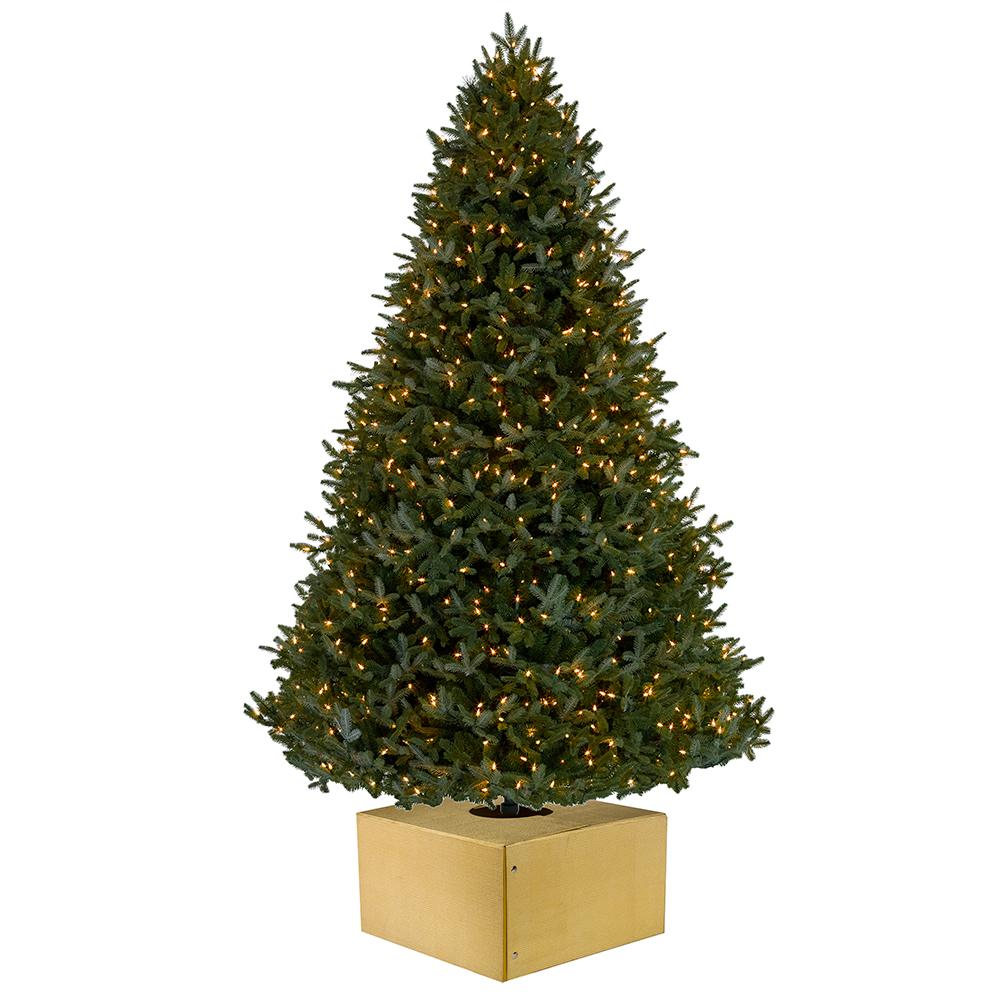 Christmas Tree Box - Medium Sparkle Gold Christmas Tree Box ...