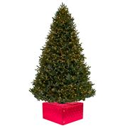Christmas Tree Box - Medium Red Satin Christmas Tree Box