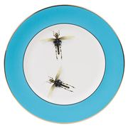 Melody Rose - Blue Dragonflies Dinner Plate
