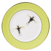 Melody Rose - Dragonflies Dinner Plate Green