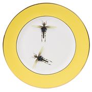Melody Rose - Yellow Dragonflies Dinner Plate