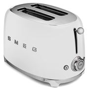 Smeg - 50's Retro Two-Slice Toaster TSF01 White
