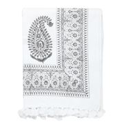 Cloth & Co - Paisley Tablecloth Light Grey 150x280cm