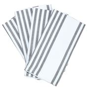 Cloth & Co - Stripe Grey Napkin Set 4pce