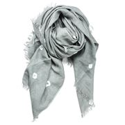Cloth & Co - Bandhani Grey Throw
