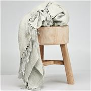 Cloth & Co - Cotton Tassel Stone Throw