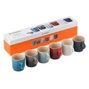 Le Creuset - Coastal Rainbow Espresso Mug Set 6pce