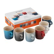 Le Creuset - Coastal Rainbow 350ml Mug Set 6pce