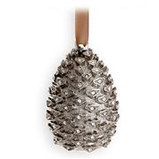 L'objet - Christmas Platinum Pinecone Ornament