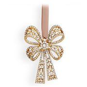 L'objet - Christmas Gold Antique Bow Tie Ornament