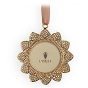 L'objet - Christmas Gold Flower Pave Frame Ornament