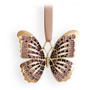 L'objet - Christmas Gold & Amethyst Butterfly Ornament