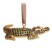 L'objet - Christmas Crocodile Ornament Gold