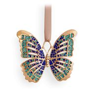 L'objet - Christmas Gold & Blue Butterfly Ornament