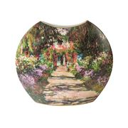Goebel - Claude Monet's Garden Pathway Small Round Vase