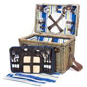 Satara - Wicker Picnic Basket Set for Four