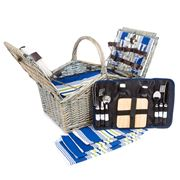 Satara - Traditional Wicker Picnic Basket Set for Four