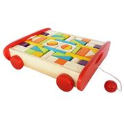 Artiwood - Wooden Building Block Trolley Set 54pce