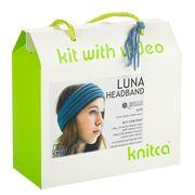Knitca - Luna Headband Knitting Kit Blue