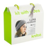 Knitca - Luna Headband Knitting Kit Silver Cloud