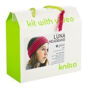 Knitca - Luna Headband Knitting Kit Cherry