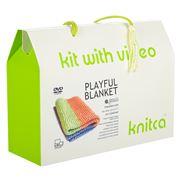 Knitca - Playful Blanket Knitting Kit Lime