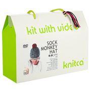 Knitca - Sock Monkey Hat Knitting Kit Classic
