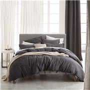 Private Collection - Versai Charcoal King Quilt Cover Set