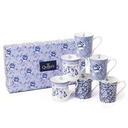 Queens - Blue Story Royale Mug Set 6pce
