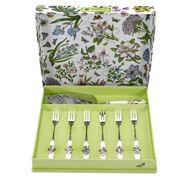 Portmeirion - Botanic Garden Cake Server/Pastry Fork Set 7pc