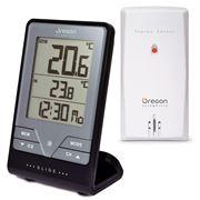 Oregon Scientific - Indoor & Outdoor Thermometer w/ Clock