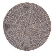 Rattan - Round Greywash Placemat 30cm