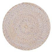 Rattan - Round Whitewash Placemat 30cm