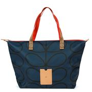 Orla Kiely - Giant Linear Stem Twilight Zip Shopper