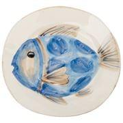 Flamant - Di Mare Blue Fish Plate 23cm