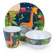 Bobble Art - Jungle Animals Melamine Mealtime Set 3pce