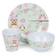 Bobble Art - Owls Melamine Mealtime Set 3pce
