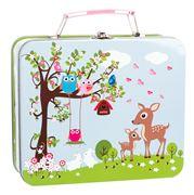 Bobble Art - Woodland Animals Tin Suitcase
